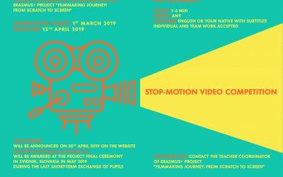 Erasmus+/Anežka, Stop-motion video soutěž