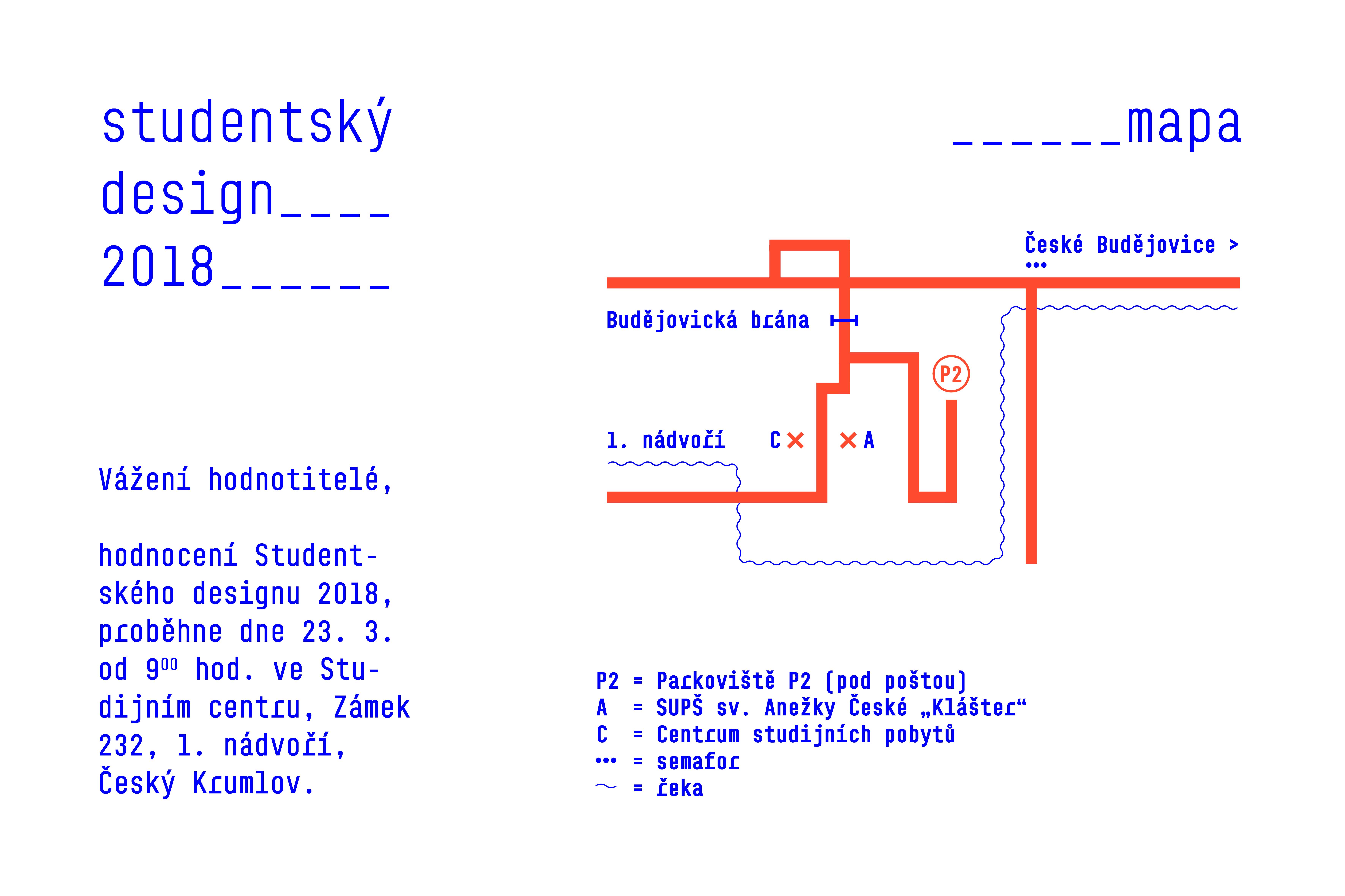 Pozvánka pro hodnotitele – Studentský design 2018