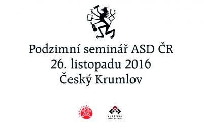 Podzimní odborný seminář sítotisku a digitálního tisku